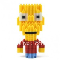 Free Shipping 2014 Simpsons Educational Toys Changed Building Block/Three-dimensional Jigsaw  For  Boys And Girls