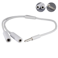New 3.5mm Headphone Splitter Plug Adapter Y Audio Cable for iPhone iPod Tonsee