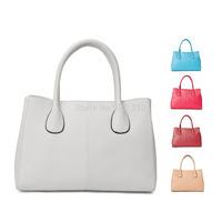 Free shipping, Women's Genuine Leather Handbag Tote Bag Handbags White/ Black/ Hot Pink/ Apricot Color Bag