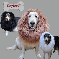 Free shipping! MOQ : 1 PC, 3 colours , Pet Dog Lion Mane Wig