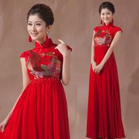 Free Shipping 2014 Bride Cheongsam Dress Evening Dresses Formal Dress Wedding Qipao,Chinese Wedding Dress