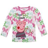 nova kids wear new 2014 fashion 100%cotton hot model long sleeve children clothing  t shirt style peppa pig FREE SHIPPING