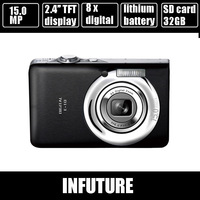 15 MP cheap camera digital camera with 2.4'' TFT display rechargeable lithium battery anti shake free shipping DC-E10