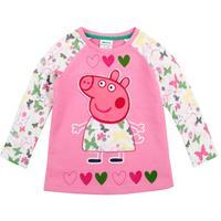 FREE SHIPPING  NOVA kids wear 2014 fashion girls tops lovely peppa pig long sleeve T-shirts for baby girls  tees