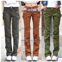 Female 2014 New Fashion Cotton Plus Size Loose Casual Outdoor Sports Women Harem Pants 12 Colors M-4XL