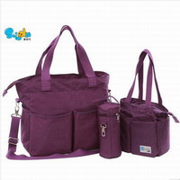 Large capacity shiada  nappy bag multifunctional liner fashion three pieces set infanticipate bag mummy bag