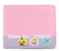 Free shipping women wallets cartoon wallet women leather wallet sweet purses and handbags