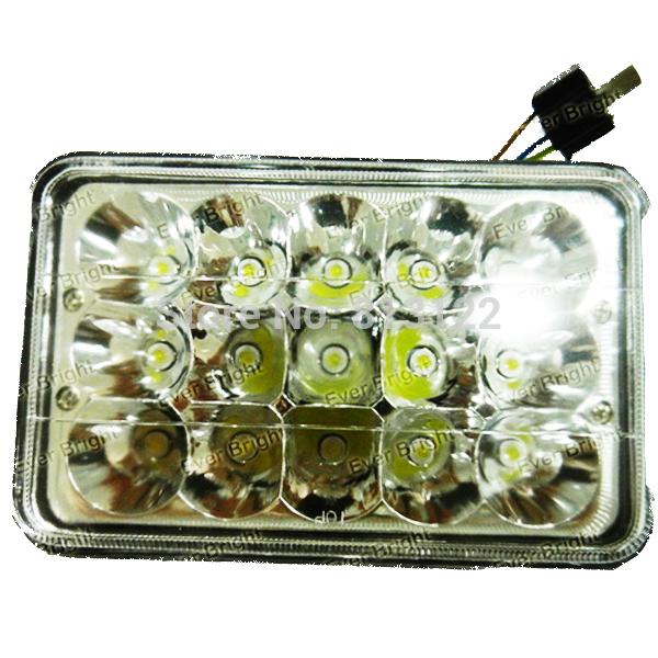 Free shipping !6pcs 45W Square LED Work Light Mine Off road Lights Lamp For 4WD 4x4 ATV UTV Boat Jeep Truck Flood beam/spot Beam(China (Mainland))