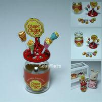 1:12 Dollhouse Miniature Lollipop Holder Chupa Chups Candy For Re-ment Orcara Miniature Toys Dolls Mini Doll house Accessories