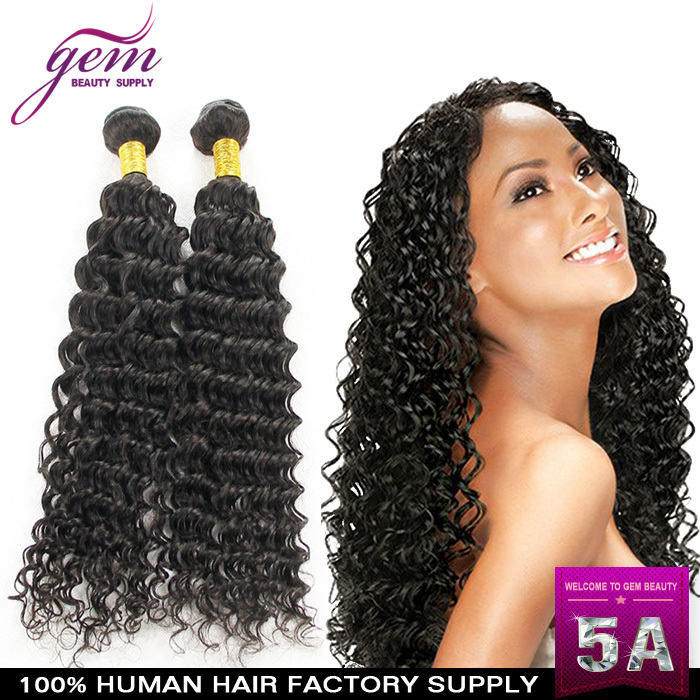 Queen Hair Products Brazilian Virgin Hair Curly 3Pcs/4Pcs Lot 100g/pcs 1B# Queen Company Brazilian Virgin Hum