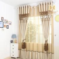 customize Curtain noble brief bedroom curtain
