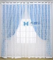 Cloth blue curtain fresh white screens