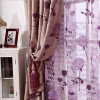 customize Curtain rose plush bedroom curtain