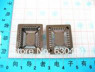 Free shipping 20pcs PLCC32 32 Pin SMD Socket Adapter PLCC Converter(China (Mainland))