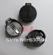 Free Shopping 100pcs dip CR2032 Battery Button Cell Holder Socket