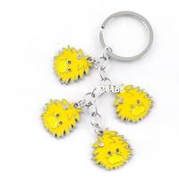 Free shipping mulheres regalo stylish lanyard product wholesale colorful animal pendent metal fashion enamel keychain