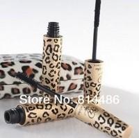 10pcs/lot, free shipping.Double Waterproof Mascara LOVE ALPHA Leopard  1 Set=2 PCS Transplanting Gel,Fiber Mascara Set (Black)