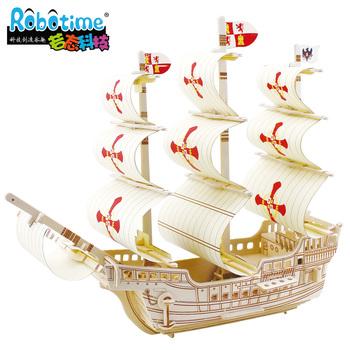 3d головоломки шерсть монтаж модель корабля святой ba502
