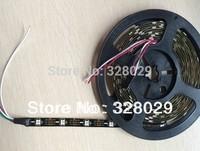 5v 5m 30 pixel/m ws2812b led strip Addressable ws2811 Built-in 5050 Beads Digital Full Magic Color Naked Black pcb Free Shipping