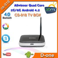 Free shipping MK888B Bluetooth 2G 8G Quad Core RK3188 Cortex A9 Full HD Multi Media Player XBMC Skype RJ45 Android TV Box  cs918
