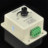PWM Dimming Controller For LED Lights or Ribbon 3528 5050, 12 Volt 8 Amp DIMMER