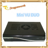 (1pcs/lot)VU DUO MINI VU+DUO Twin Tuner Decoder Linux OS 405mhz Processor Support Original vu+ Software Free Shipping