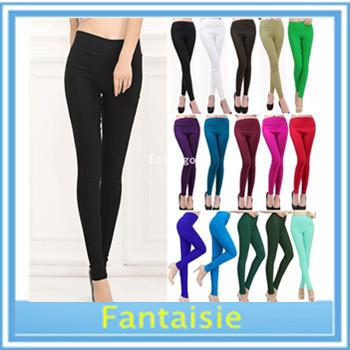 Moda delle donne pantaloni matita nuove donne arcobaleno caramella di colore skinny slim fit idoneità elastico pantaloni( kx25) spedizione gratuita