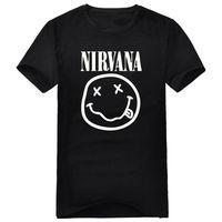 Free shipping smiley nirvana band short-sleeve T-shirt nirvanamale casual short-sleeve fashion rock t shirts for men plus size