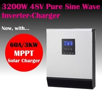 PIP3248MS pure sine wave solar power inverter charger 48v 3200w/6400w pure sine wave with 60A MPPT solar charger