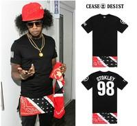 2014 new hot  top Cease   desist  short-sleeve black male men Women t-shirt national flag cashers lengthen zipper flower