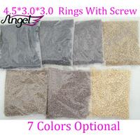 Angel 1 bag-4.5mm*3.0mm*3.0mm 5000pcs/bag Micro Aluminium Rings/Links/Beads,  Hair Extensions tool, 7 Colors Optional