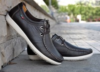 2014 new Genuine leather men shoes fashion breathable casual loafers skateboarding sneakers Skateboarding Shoes