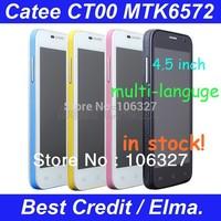 "Original Catee CT100 MTK6572 dual core Android 4.2 mobile Phone 4.5"" capacitive screen 3G WCDMA GSM bluetooth Russian menu/Elma"