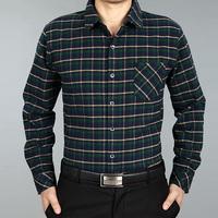 2013 male winter SEPTWOLVES men's clothing mercerized cotton plus velvet long-sleeve shirt men's plaid shirt