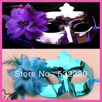 Free shipping new arrival factory direct plating side flower party mask for women