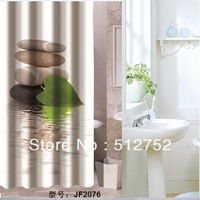 New Zen pebble stones Bathroom Fabric Shower Curtain  180x200cm  bath curtain bath screen waterproof w/ shower hooks