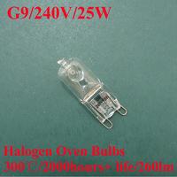 20Pcs/lot, WSDCN, Halogen Oven Lamp, G9/240V/220V~240V/25W, 300'C, Oven Bulb, Heat Resistant Bulb, 2000h life