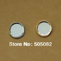 Replacement white Home Button With Metal Ring Repair Part for iPhone 4S Same Look as iPhone 5s + free shipping