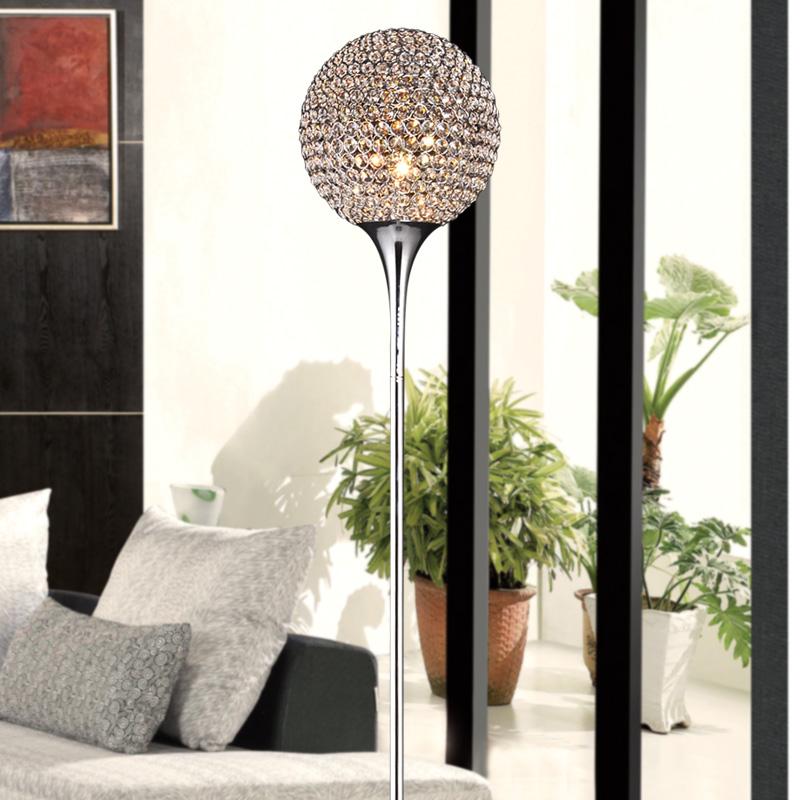 Luxuriant creative k9 crystal floor lamp light modern floor lampshade lamps for living room home modern lights bedroom 220v e27(China (Mainland))