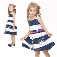 brand nova kids girl clothes baby girl dress with printing and belt kids wear children cute princess dresses H4068#