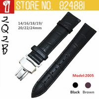 TOP Grade Butterfly Fold Deployment Clasp Men/Male`s Watchbands 14 16 18 19 20 22 24mm Watch Band Strap Belt Free Shipping 2005