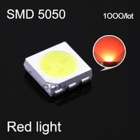 Free shipping Red light led smd 5050 leds lamp led emitting diode for led light string par light  1000pieces/lot#