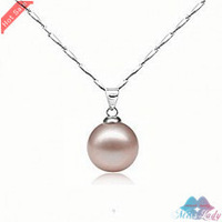 Wholesales Fashion Jewelry 18K Platinum Plated Pearl Trendy Ball Necklaces & Pendants for women K193