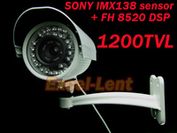 "HD 1200TVL camera, 1/3"" Sony Exmor IMX138 CMOS+ FH 8520 DSP 1200TVL Waterproof Outdoor Surveillance Security Video CCTV Camera"