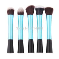 lake blue Professional Powder Blush Brush Facial Care Facial Beauty Cosmetic Stipple Makeup Tools Makeup Brush Foundation Brush