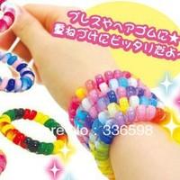 10pcs/lot mix colour big size5.5cm Fashion  High Elastic Telephone Line Hair Band / Headwear/Hair Ring