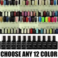 ANY 12 in 84 colors Shellac  UV Led Soak-Off Gel Polish Nail Art 10ml Base/topcoat-3