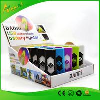 DANNI USB LIGHTER  Electronic Cigarette Lighter USB  Power Battery   Flameless for click n vape  smoking metal pipe
