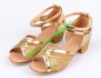 Free shipping-Children dance shoes Children latin dance shoes ballroom tango salsa dancing shoes,for girls EUR size24-40 #0290