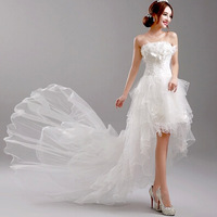 Two wear method mermaid wedding dresses 2014 for woman Removable Strapless Wedding Dresses Rhinestone Decoration kc 218
